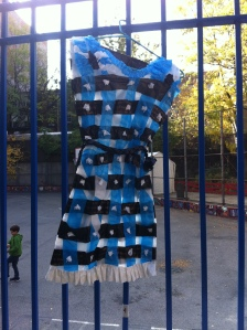 Plastic Streamer Dress