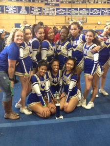 Ms. Gibson & Senior Cheerleaders CITY CHAMPS